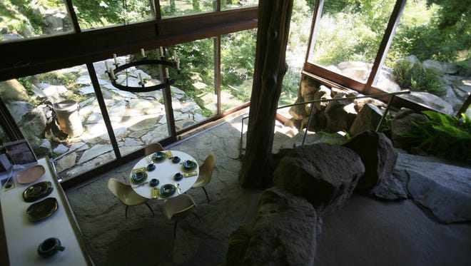 A dining area in the the Russel Wright home at Manitoga/The Russel Wright Design Center in Garrison, which was ranked the top day trip for architecture lovers in the New York City area. ( Seth Harrison / The Journal News )