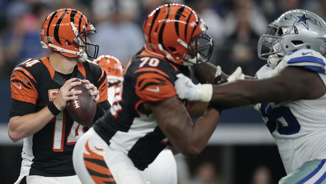 Cincinnati Bengals offensive tackle Cedric Ogbuehi, 70, will get another chance to start in 2017, this time at left tackle.