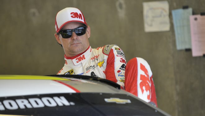 Jeff Gordon is climbing back in NASCAR Sprint Cup car for this weekend's Brickyard 400.