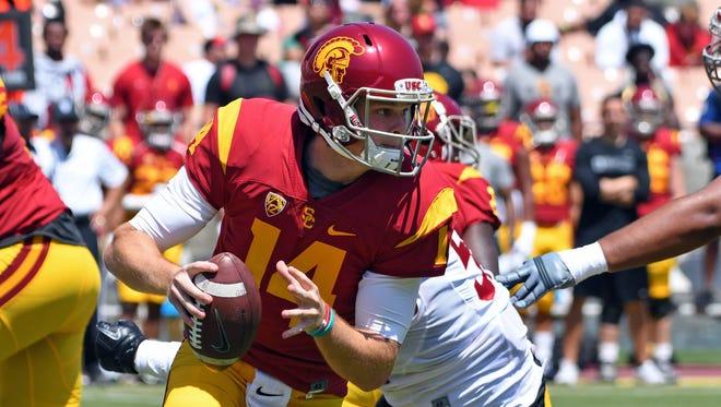 USC quarterback Sam Darnold during the Trojans' spring game.