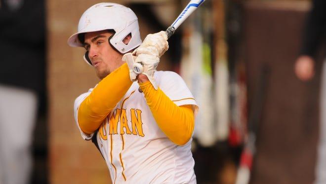 Anthony Harrold is leading the Rowan University baseball team in batting average among many other hitting categories.