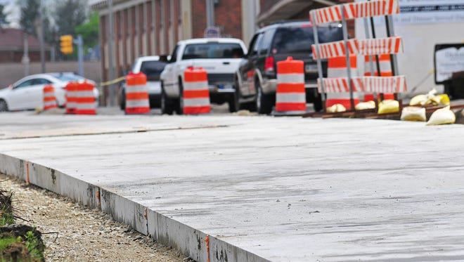 Precast plates are being used to rebuild South A Street in downtown Richmond. It's the first project of its kind in Indiana.