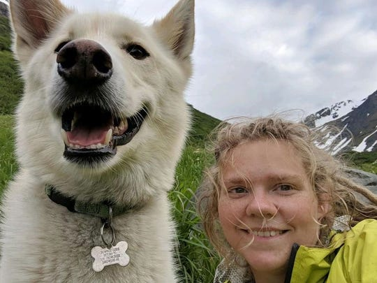 A selfie of Nanook and Amelia, used with permission of the Anchorage Daily News.