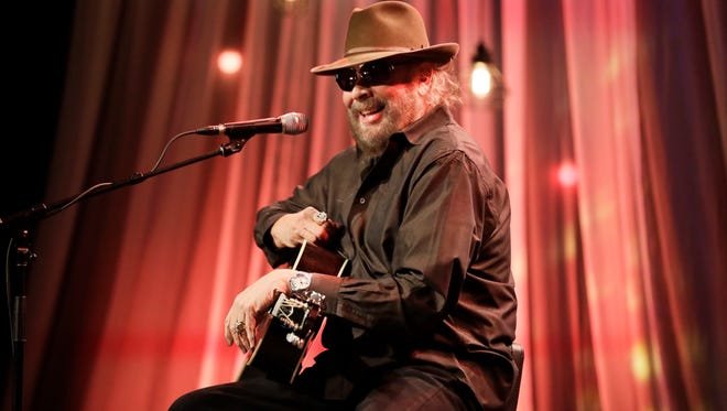 Hank Williams Jr. tapes a segment for a Dolly Parton telethon Tuesday, Dec. 13, 2016, in Nashville, Tenn. Williams is scheduled to perform in Ridgedale, Mo. April 20, 2017.