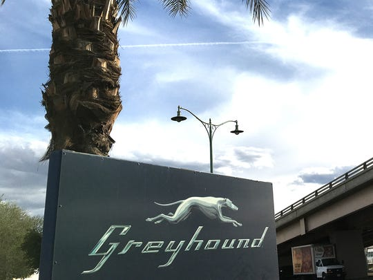 The Greyhound bus station in Indio, California photographed on March 21, 2018.