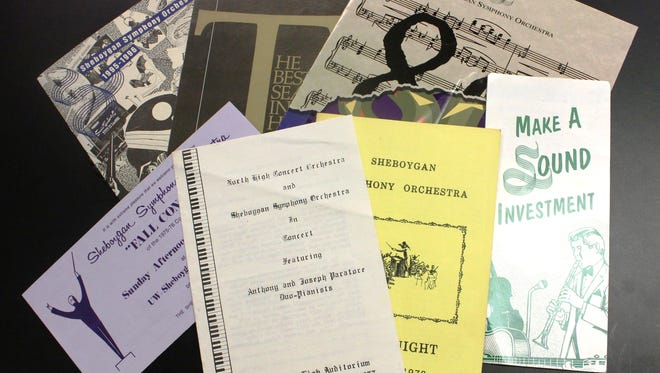 A selection of Sheboygan Symphony Orchestra programs from the last several decades.
