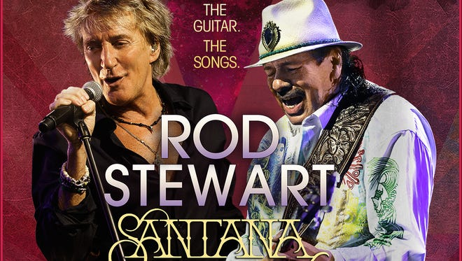 Rock icons Rod Stewart and Carlos Santana team on a summer tour starting May 23 in Albany, N.Y.