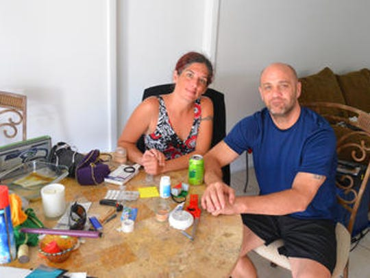 Amy Vipond and Joe Lynberg just moved into a house on Merritt Island, using all their savings for first and last month's rent and deposits. Joe works at Slow & Low Barbecue Bar & Grill in Cocoa Beach and has been out of work for almost a week with no paycheck due to Hurricane Irma. They just spent their last $4 on water so they could flush the toilet.