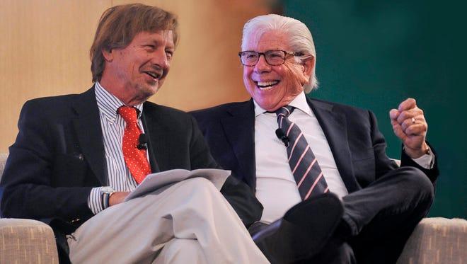 P.J. O'Rourke (left) and Carl Bernstein.