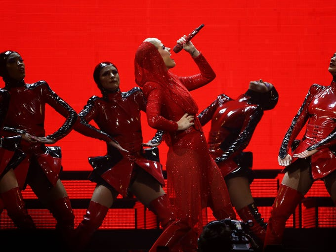 Katy Perry performs in concert during the 'Witness: