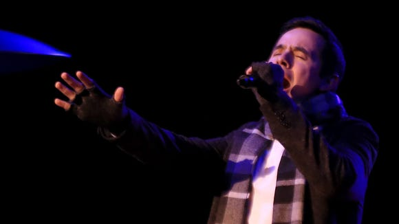 During his performance Friday at Tuacahn Amphitheatre, David Archuleta worked the stage and interacted with the crowd.