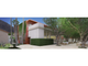 The Orchid Tree Inn is proposed as a redevelopment of the Palm Springs Community Church and the adjoining bungalows. This sketch depicts the proposed event space.