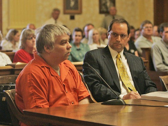 Steven Avery addresses the judge while his attorney,