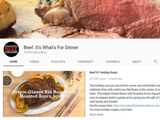 Social media platforms such as YouTube have helped educate audiences on the benefits of beef.