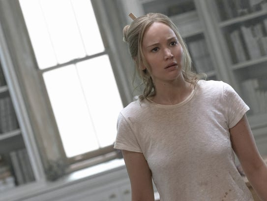 Jennifer Lawrence stars as a wife whose peaceful existence