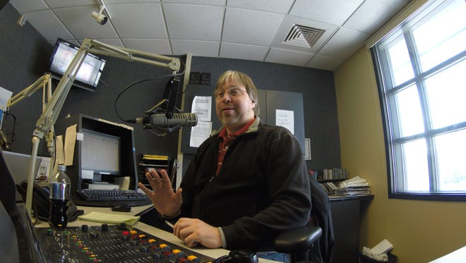 Dennis Stuckey does his radio show Friday, March 4 at Radio First in Port Huron.