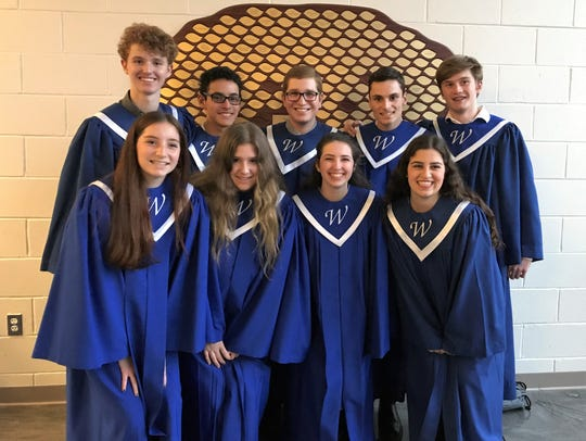 Nine students from Westfield High School performed