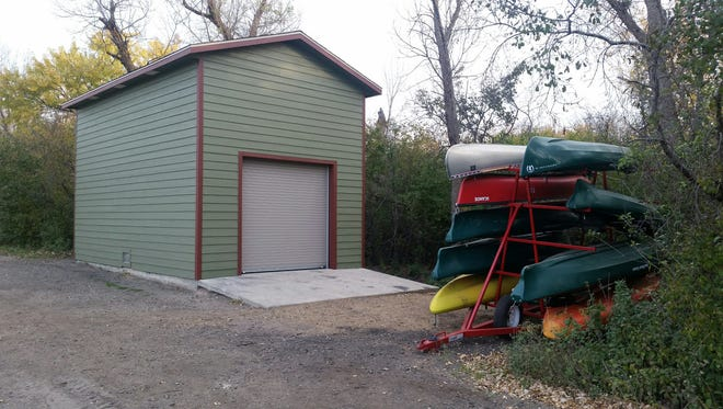A boating shed for the Outdoor Campus was completed late last week, more than three months after being destroyed by a fire.
