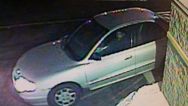 The suspect of the Jan. 27 armed robbery at the Subway located at 1120 Radisson Street. The vehicle is believed to be a silver Kia Rio or Spectra with a rear spoiler and eight-spoke wheels.