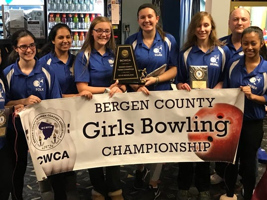 Holy Angels repeated as team champion at the Bergen County girls bowling tournament on Saturday, Jan. 20, 2018 at Bowler City.
