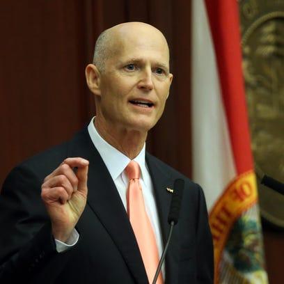 Florida Gov. Rick Scott says no rush on Senate decision