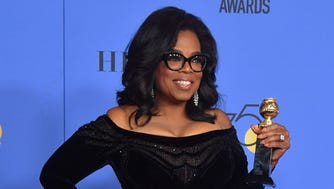 Actress and TV talk show host Oprah Winfrey accepted the Cecil B. DeMille Award during the 75th Golden Globe Awards in Beverly Hills, Calif., on Jan. 7, 2018.