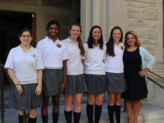 Sofia Santos, Director of Student Services at Mount Saint Mary Academy in Watchung, recently announced the names of students who have been named Commended Students in the 2017 National Merit Scholarship Program: Veronica C. Cunningham of Scotch Plains, Catherine M. Lawlor of Summit, Jacqueline N. McNulla of Plainfield, Trisha M. Parayil of Bridgewater, and Silvana L. Truppi of Annandale. A Letter of Commendation from the school and National Merit Scholarship Corporation (NMSC), which conducts the program, will be presented to these scholastically-talented seniors. Approximately 34,000 Commended Students throughout the nation are being recognized for their academic promise. Although they will not continue in the 2017 competition for the National Merit Scholarship Awards, Commended Students placed among the top 5 percent of more than 1.6 million students who entered the 2017 competition by taking the 2015 Preliminary SAT/National Merit Scholarship Qualifying Test (PSAT/NMSQT).