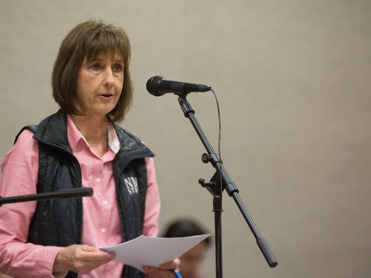 Sue Padilla, a parent of an equestrian team member, talked to the NMSU Regents Friday, January 20, 2017, explaining the fundraising the team has been working on to try and keep the program from being discontinued. The regents voted 5-0 in favor of discontinuing the Equestrian Program at NMSU.