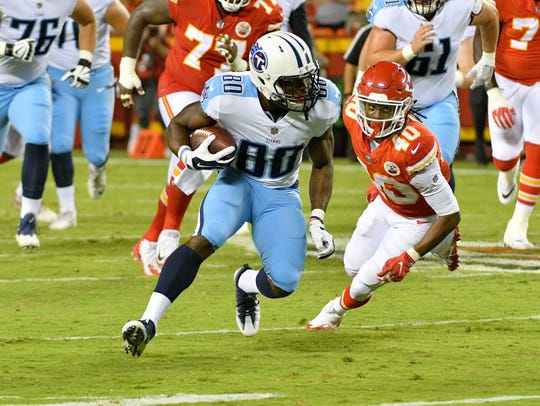 Aug 31, 2017; Kansas City, MO, USA; Tennessee Titans