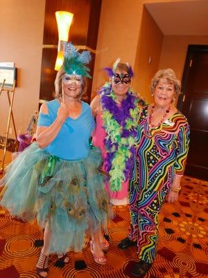 Diane Backovich, Sayonna Martin and president Jodie Miller.