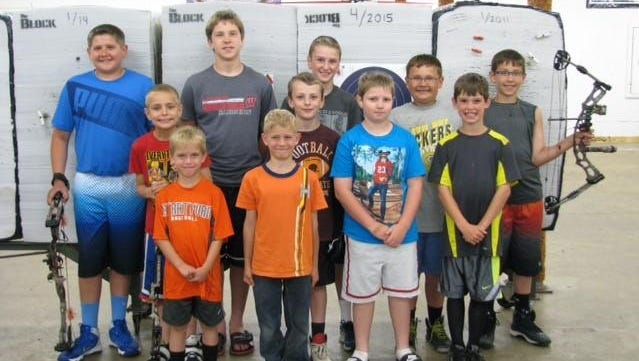Pictured are Cody Breu, Cody Korth, Seth Oemig, Carter Cera, Kyler Breu, Ryan Kundinger, Charlie Moore, Colby Korth, Cy Becker, Ray Becker and Parker Goodwin.