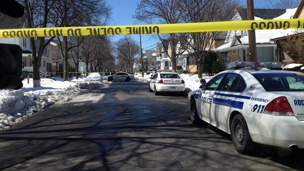 Police investigate a homicide on Wilkins Street in March.