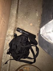 A firearm was found in the driveway where the man was reportedly hiding.