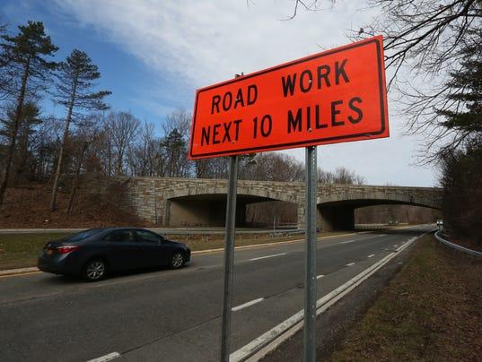 Palisades Parkway roadwork ahead