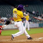 LSU's Chris Chinea (26) is hitting .338 on the season.