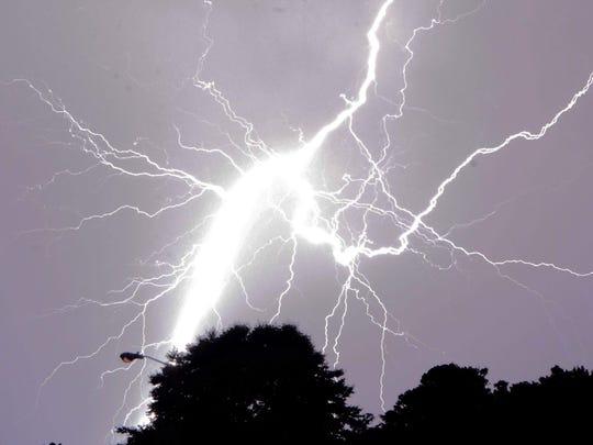 PNJ reader Sammy Cohen shared these amazing lightning shots captured during a 2018 thunderstorm.