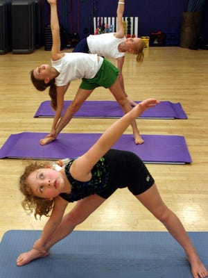 A yoga class for kids.