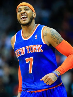 Carmelo Anthony decided to stay with the Knicks after exploring free agency.