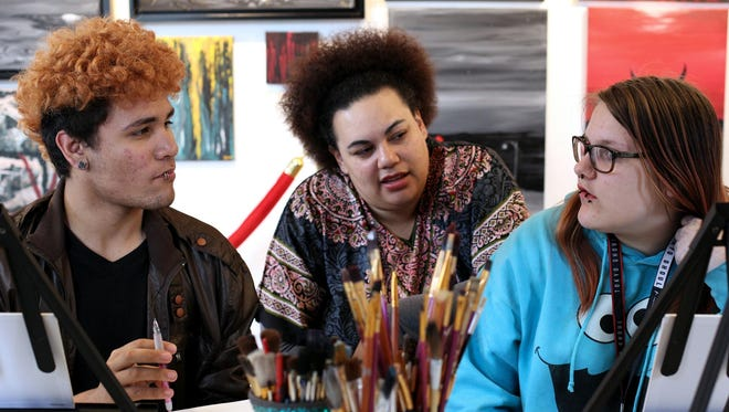 Teen Reading Lounge connected the teens to former York City Poet Laureate Carla Christopher, center, as a humanities scholar and champion for humanities and the arts.