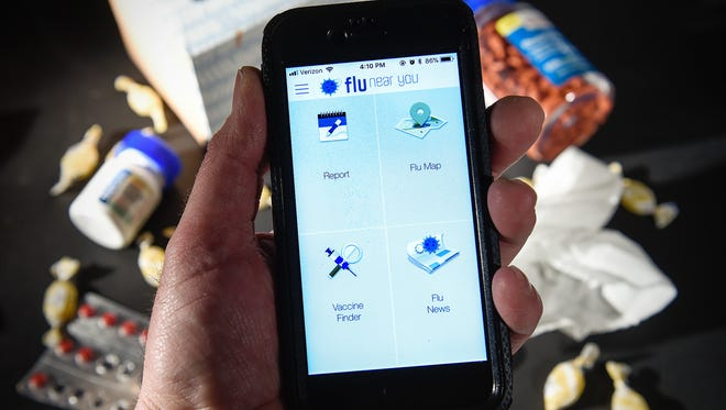 The Flu Near You phone app uses the power of the crowd to provide you as well as researchers with real-time 