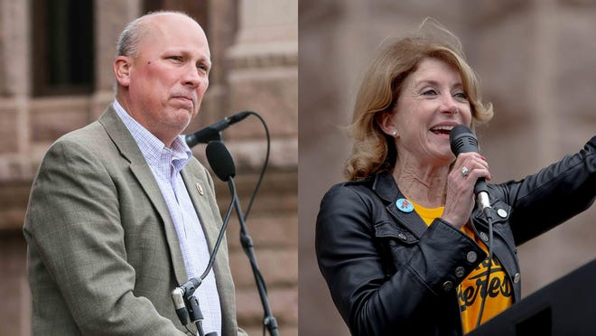 U.S. Rep. Chip Roy, a Republican, is seeking reelection to his seat in the 21st Congressional District. Former state Sen. Wendy Davis, a Democrat, is challenging him for the seat. [Left: Lola Gomez/AMERICAN-STATESMAN]