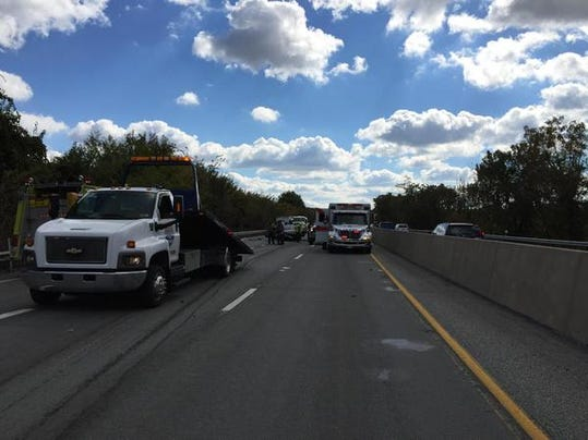 Units responded to the scene of a crash midday Friday near exit 19 at Market Street on Interstate 83 northbound, 911 confirmed.
