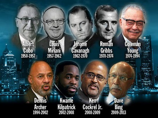 Detroit Mayors from 1950-2013