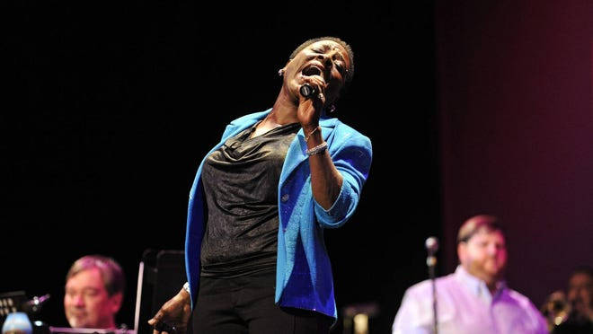 """North Augusta native Sharon Jones joined Ed Turner and Number 9 for the Rock & Soul Revue in August 2014, performing the James Brown hit song """"It's a Man's Man's Man's World."""""""