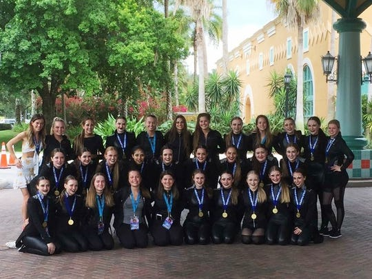 All 30 dancers from Sheboygan's Dollhouse Dance Factory who competed in a world competition last weekend in Orlando, Florida. Dancer's include Betsy Klauck, Olivia Depagter, Allie Campbell, Teagan Yedica, Willow Dodgson, Emily Vallo, Sophie Jacobson, Carly Jennerman, Claire michener, Emma Wiroll, Emily Bauer, Grace Binelli, Lily Reyer, Natalie Madson, MacKenzie Davenport, Grace Hurrie, Mariah Ybanez, Morgan Wittman, Greta Humke, Emily Higgins, Taylor Gutschow, Lucy Testwuide, Kaila Bricco, Kennedy Matuschka, Lauren Firgens, Isabel Lyons, Emma Hapeman, Lauren Andrews, Maria Buhler, Nicole Fritsch, Coach Kayla Pittner.