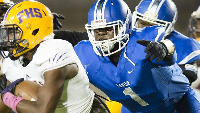 Sidney Lanier sophomore defensive lineman Alfred Thomas, whose 109 tackles included 38 for loss and 21 sacks, has been named first-team Class 5A All-State.