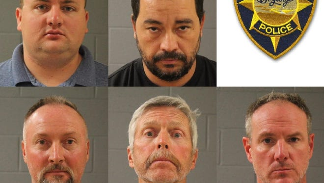 Five men were arrested Tuesday in connection to a prostitution sting conducted by the St. George Police Department.