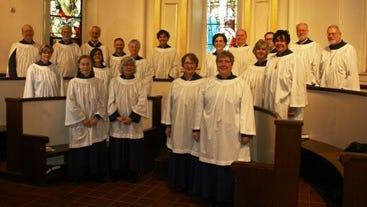 John Sheridan (far left) and the Christ Church New Brunswick Parish Choir.