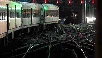 """A NJ Transit train enters Penn Station crossing over the area known as """"A Interlocking,""""  Repair work will kick into high gear on this section on Monday and last through Sept. 1,"""
