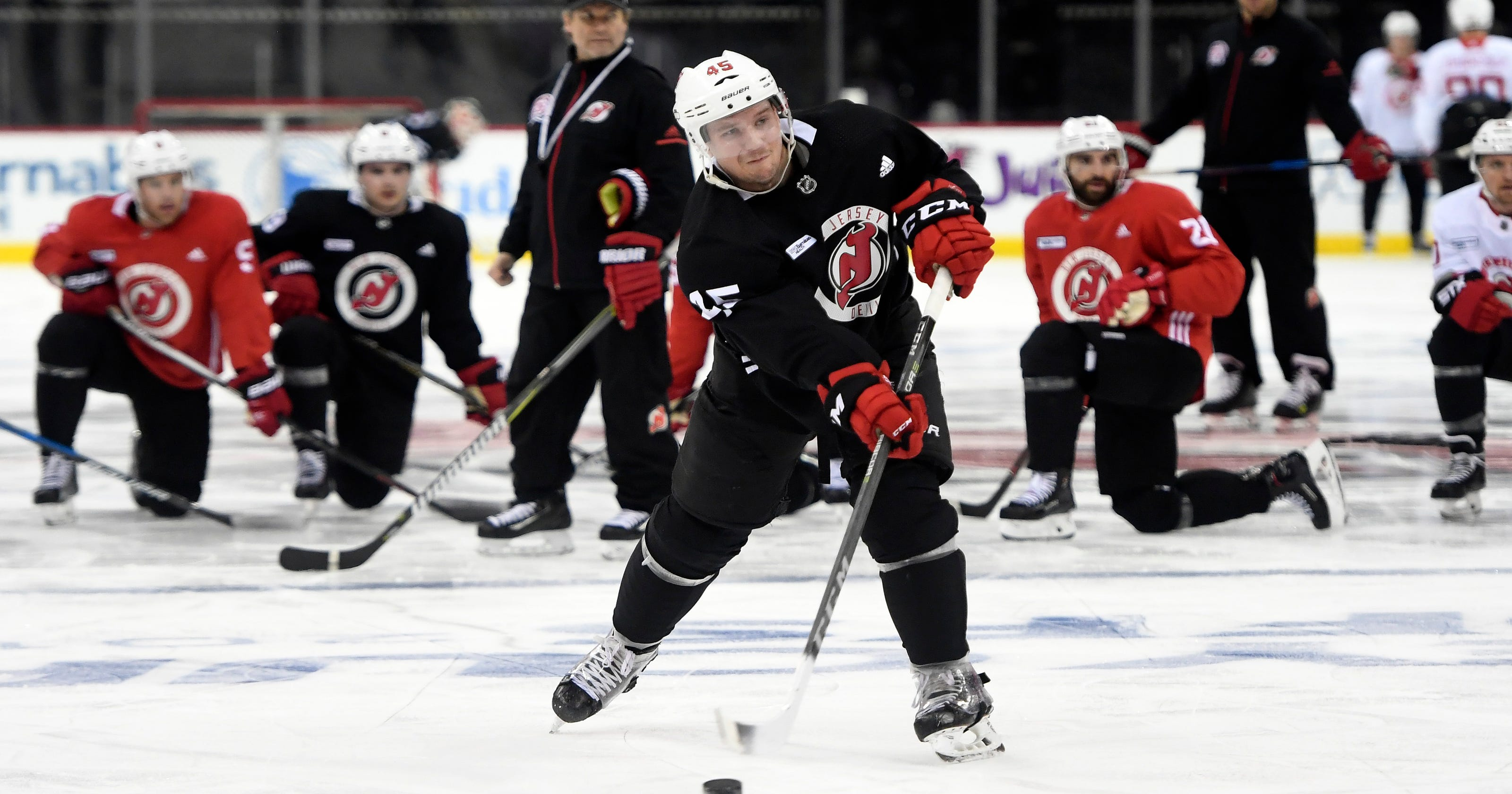 Devils playoff practice notes  Where Marcus Johansson and Stefan Noesen  skated 2672834fe